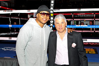 May 11, 2013 LL Cool J (left) and Star Boxing CEO/President Joe DeGuardia (right) look on at Rockin Fights 8 held at The Paramount in Huntington NY. Edward Diller/Star Boxing